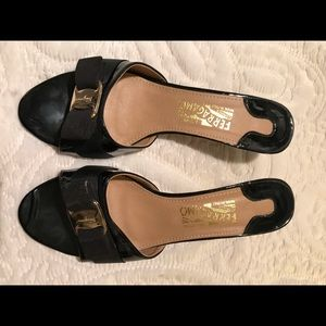 Ferragamo Black Sandals Size Euro 41 or US 10